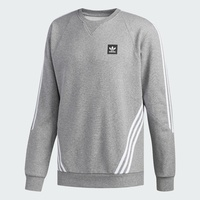ADIDAS FT DENIM CREW AB8055 CHARCOAL WASHED BLACK SKATEBOARDING CREW JUMPER