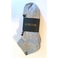 ZOO YORK SOCKS STREET ANKLE 5 PACK GREY HEATHER SKATE SURF FREE POST AUST SELLER