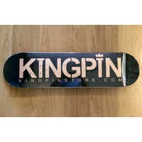 KINGPIN WOOD GRAIN SKATEBOARD DECK FREE GRIP ALL SIZES AUST SELLER NEW BLACK