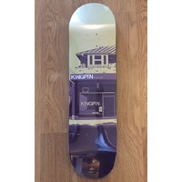 KINGPIN SKATE SHOP SKATEBOARD DECK FREE GRIP ALL SIZES AUST SELLER NEW CREAM