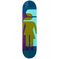 "GIRL SKATEBOARDS HARDCOURT MIKE MO 7.875"" DECK SKATEBOARD FREE GRIP AUST"