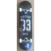 "ZOO YORK SKATEBOARD COMPLETE 93 COLLEGE 8.25"" COLOUR SKATE NEW COMP"