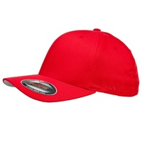 FLEXFIT PERMA CURVE CAP RED 6277 NEW FLEX FIT CAP AUST HAT HATS CAPS