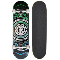 "ELEMENT SKATEBOARD COMPLETE HATCHED 8 INCHES"" SKATE AUST SELLER FREE POST"
