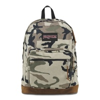 JANSPORT RIGHT PACK beige camo  BACKPACK BAG NEW cotton canvas AUSTRALIAN SELLER