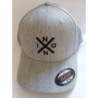 NIXON  EXCHANGE FF  FLEXFIT HAT HEATHER GREY / BLACK FLEX FIT CAP