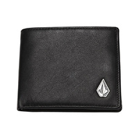 VOLCOM Single Stone Leather Wallet Leather Accessories Black FREE POST MENS