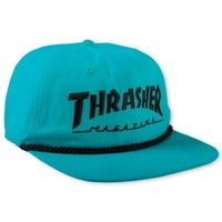 Thrasher Rope 6 Panel Hat Teal Black Cap Skate Free Postage Australian Seller