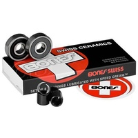 Bones Swiss Ceramic Skateboarding Bearings 8 PACK AUSTRALIAN SELLER FREE POSTAGE