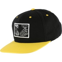 DOOM SAYERS SNAPBACK CAP SNAKE SHAKE BLACK / YELLOW Hat Cap Aust Seller