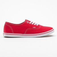 VANS SHOES AUTHENTIC LO PRO RED/TRUE WHITE SKATE SKATEBOARD SURF KINGPIN STORE