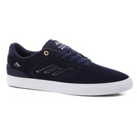 EMERICA SHOES REYNOLDS LOW VULC NAVY WHITE GOLD KINGPIN SKATEBOARD SUPPLY