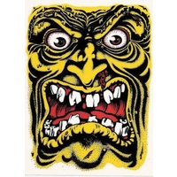 SANTA CRUZ ROB ROSKOPP FACE YELLOW STICKER NEW AUST SELLER SCREAMING HAND