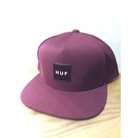Huf Box Logo Snapback Cap Wine New Skate Aust Seller Free Post Hat Kingpin Shop