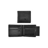 NIXON SHOWTIME BI-FOLD ZIP WALLET ALL BLACK FREE POSTAGE AUSTRALIAN SELLER