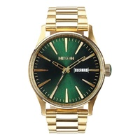 NIXON Sentry SS GOLD / GREEN SUNRAY WATCH NEW A356-1919-00 AUST SELLER
