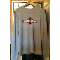 Independent OGBC Crew Neck Grey Heather Indy Jumper Free Post Skate Shop Aus