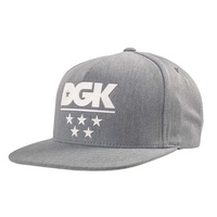 DGK GAME TIME SNAPBACK HEATHER GREY CAP HAT NEW FREE POSTAGE AUSTRALIAN SELLER
