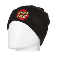 SANTA CRUZ CLASSIC PATCH BEANIE BLACK KINGPINSTORE