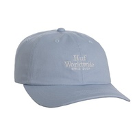 HUF WORLDWIDE UV LIGHT BLUE CURVED BRIM HAT CAP SKATEBOARD FREE POSTAGE