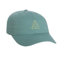 HUF TRIPLE TRIANGLE CYPRESS GREEN CURVED BRIM HAT CAP SKATEBOARD FREE POSTAGE