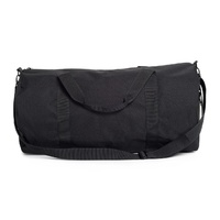 AS COLOUR 1003 DUFFEL BAG BLACK TRAVEL CARRY BACKPACK FREE POSTAGE AUSTRALIAN
