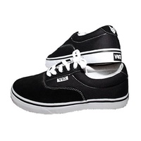 VOX SHOES SAVEY BLACK / WHITE SKATE SKATEBOARD FREE POST NEW