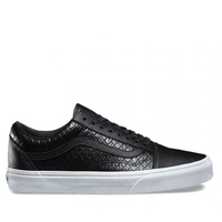 VANS OLD SKOOL SHOES LEATHER BLACK SHOES SCHOOL AUSTRALIAN SELLER FREE POSTAGE