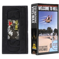 TOY MACHINE VHS SKATEBOARD WAX BLACK AUST SELLER SKATE WELCOME TO HELL