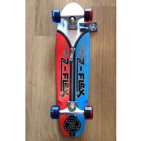 Z-FLEX SKATEBOARD BLUE/RED ZIPPER-HEAD JAY ADAMS ZFLEX COMPLETE CRUISER DECK AUS