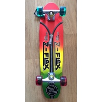 Z-FLEX SKATEBOARD RASTA ZIPPER HEAD JAY ADAMS COMPLETE CRUISER DECK AUST ZFLEX