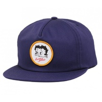 Butter Goods Snapback Betty Baseball Cap in NAVY Buttergoods