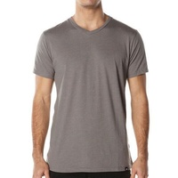 ANALOG CLOTHING 3 FITTED V NECK TEE SHIRTS GREY SKATE SKATEBOARD KINGPINSTORE