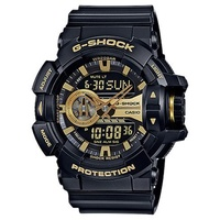 CASIO G-SHOCK WATCH DUO ROTARY AUST WARRANTY GA400GB-1A9 WATCHES BLACK GOLD