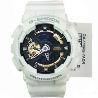 CASIO G-SHOCK WATCH ANALOG / DIGITAL AUST WARRANTY GA110RG-7A WATCHES WHITE ROSE