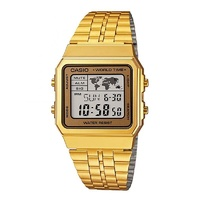 CASIO WATCH GENTS DIGITAL SQUARE LED AUST SELLER A500WGA-9DF WATCHES GOLD NEW