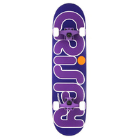 "CRISPY COMPLETE SKATEBOARD 7.5"" PURPLE / PURPLE AUST SELLER NEW"