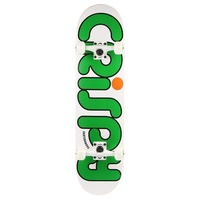"CRISPY COMPLETE SKATEBOARD 7.5"" WHITE / GREEN AUST SELLER NEW"