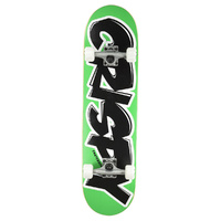 "CRISPY COMPLETE SKATEBOARD BEGINNER 7.9"" GREEN / BLACK AUST SELLER NEW"