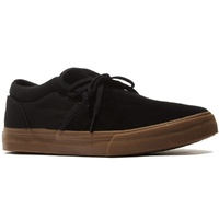SUPRA CUBA BLACK GUM SKATEBOARD SLIP ON SHOES FREE POSTAGE AUSTRALIAN SELLER