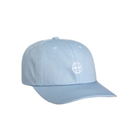 HUF CIRCLE H 6 PANEL CAP HAT LIGHT BLUE FREE POSTAGE AUSTRALIAN SELLER