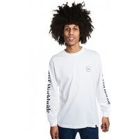 HUF DOMESTIC LONG SLEEVE TEE WHITE FREE POSTAGE AUSTRALIAN SELLER