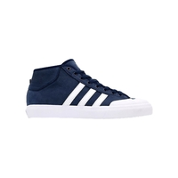 ADIDAS MATCHCOURT MID NAVY BLUE WHITE SKATEBOARD SHOES AUST SELLER FREE POST
