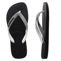HAVAIANAS Top Mix Black / Steel Grey MALE Thongs Sandals Male Flip Flops