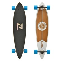 "Z-FLEX LONGBOARD PINTAIL WHITE 38"" NEW SKATEBOARD CRUISER FREE POST AUSTRALIAN"