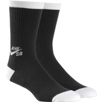 NIKE SB DRI FIT CREW SOCKS 3 PACK BLACK MENS SKATEBOARD AUSTRALIAN SELLER