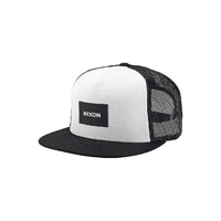 NIXON TEAM TRUCKER HAT BLACK / WHITE SNAPBACK CAP NEW AUST SELLER