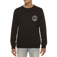 Volcom RELOAD CREW FLEECE SWEAT SHIRT New Black Aust Seller