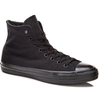 CONVERSE CTAS PRO HI BLACK BLACK OX CANVAS CHUCK TAYLOR SHOES ALL STARS