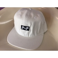 Passport White Cap 6 Panel Hat New Wax Canvas Strap Back Skate Free Post Aust